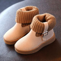 Luco - Kids Knit Panel Short Boots
