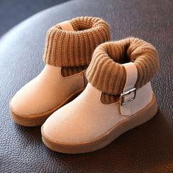 綠豆蛙童鞋 - 童裝針織拼接短靴