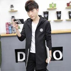 DTT - Letter Applique Hooded Jacket