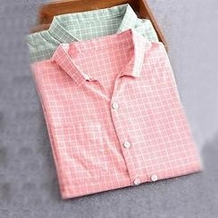 Colorful Shop - Long-Sleeve Check Shirt