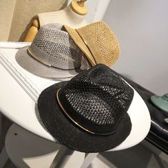 FROME - Perforated Fedora Hat