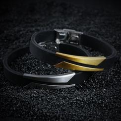 Tenri - Metal Clasp Silicone Bracelet