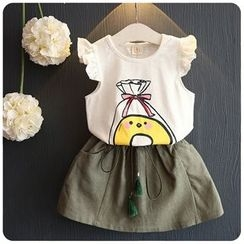 Rakkaus - Kids Set: Printed T-Shirt + Skirt