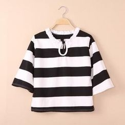 QZ Lady - 3/4-Sleeve Striped Top