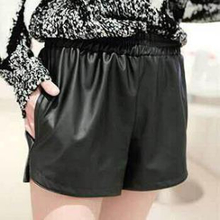 Munhome - Faux Leather Shorts