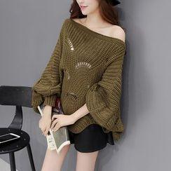 Romantica - Open-Knit Sweater