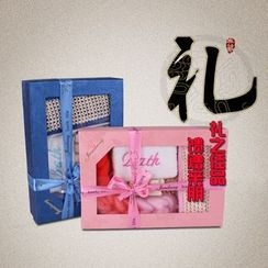 Koeman - Gift Set: Bath Sponge + Hair Brush +  Exfoliating Bath Sponge + Back Scrubber + Toe Separators + Nail File