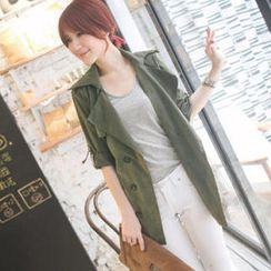 Tokyo Fashion - Double-Breasted Trench Coat with Sash