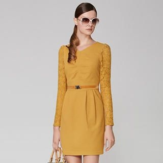 O.SA - Lace-Sleeve Dress