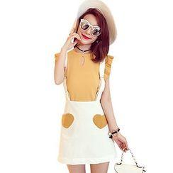 Ashlee - Heart Suspender Skirt