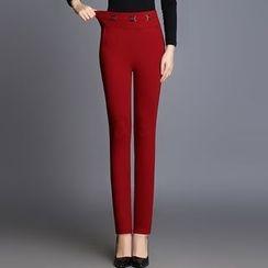 Mija - 纯色窄身长裤