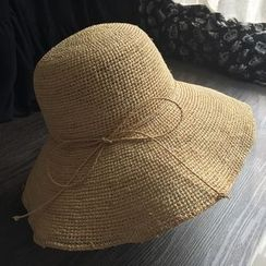 EVEN - Bow Straw Hat
