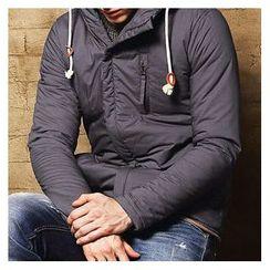 WOOD SOON - Drawstring Hooded Coat