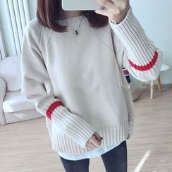 Bloombloom - Color Block Long Sweater