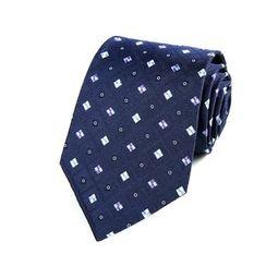 Xin Club - 圖案真絲領帶 (8cm)