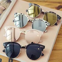 Biu Style - 圆框太阳眼镜