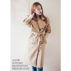 Chlo.D.Manon - Long Cotton Trench Coat with Belt
