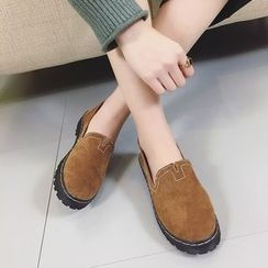 Charming Kicks - Faux Suede Loafers