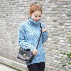 Loytio - Turtleneck Cable Knit Sweater