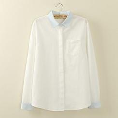 Tangi - 撞色衬衫