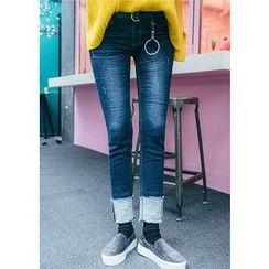 Chlo.D.Manon - Cuffed-Hem Skinny Jeans
