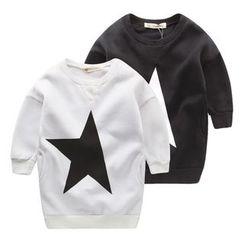 lalalove - Kids Star Print Sweatshirt