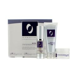 Osmotics - Micro Peel Skin Resurfacing System: Exfoliating Charcoal Mask 50ml/1.7oz + Collagen Boosting Micro Peel 15ml/0.5oz + Protective Barrier Cream 15ml/0.5oz