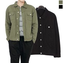 Seoul Homme - Single-Button Dual-Pocket Jacket