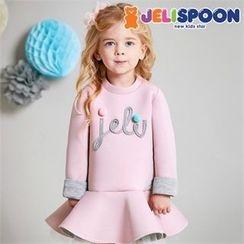 JELISPOON - Girls Lettering Neoprene Pullover Dress