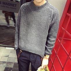 子俊 - 純色粗針織毛衣