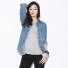 Secret;BB - Snap-Button Denim Shirt