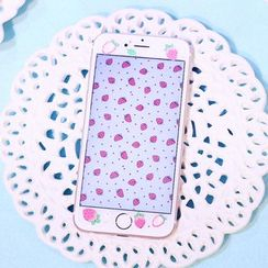 Sea Girl - Strawberry Print iPhone 6 / 6S / 6 Plus / 6S Plus Tempered Glass Screen Protective Film