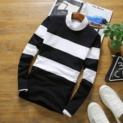 T for TOP - Long-Sleeve Striped T-Shirt