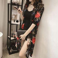 Shimi - Floral Print Chiffon Light Jacket