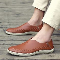 WeWolf - Genuine Leather Stitched Loafers