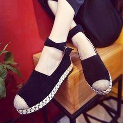 Laceuplux - Ankle Strap Espadrille Platform Shoes