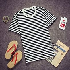 Soulcity - Stripe Short-Sleeve T-shirt