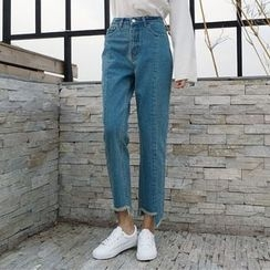 OCTALE - Frayed Straight-Cut Jeans