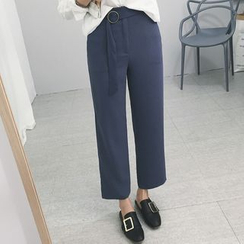 Carabecca - Cropped Wide Leg Pants