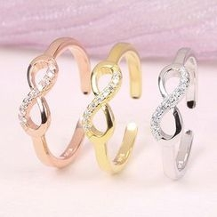 JZ Concept - Rhinestone Infinity Symbol Open Ring
