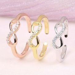 JZ Concept - 水鑽無限符號開口指環