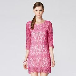 O.SA - Elbow-Sleeve Lace Dress