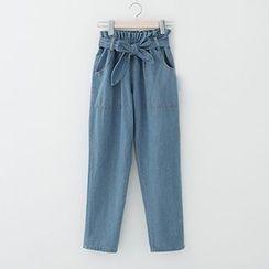 Meimei - Bow Loose-fit Jeans