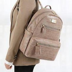 BABOSARANG - Faux Leather Backpack