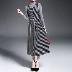 Alaroo - 無袖條紋連衣裙