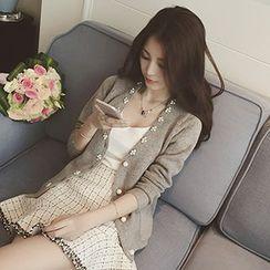 Shomez - Embellished Knit Jacket