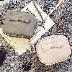 BAGuette - Bow Faux Leather Shoulder Bag