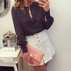 Eloqueen - Dotted Chiffon Blouse