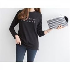 PEPER - Round-Neck Lettering T-Shirt