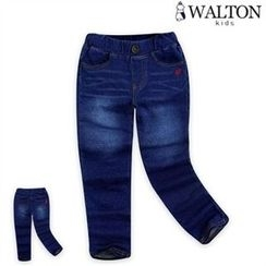 WALTON kids - Kids Band-Waist Washed Jeans